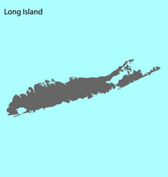 High quality map island vector