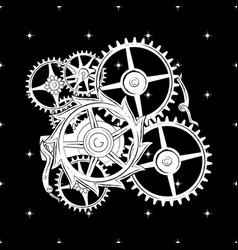 image clockwork for t-shirt apparel vector image
