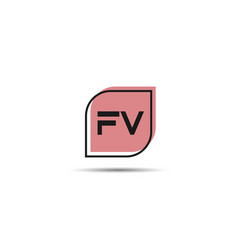 Initial letter fv logo template design vector