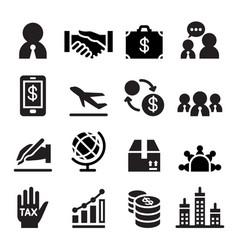 International business icon vector