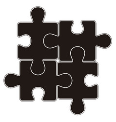 isolated pieces of puzzle toy icon vector image
