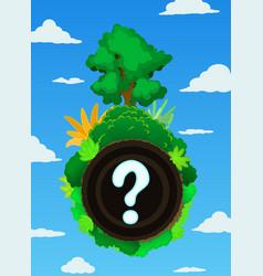 landscape sphere question vector image