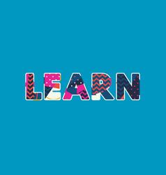 Learn concept word art vector