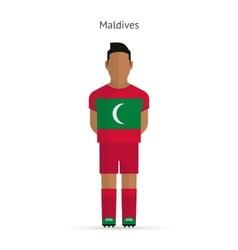 Maldives football player Soccer uniform vector