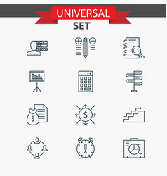 management icons set with decision making vector image