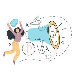 marketing optimization announcement business promo vector image