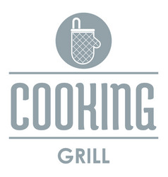 meat cooking logo simple gray style vector image