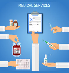 medical services concept vector image