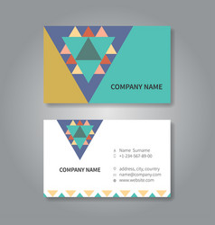 modern geometric business card design template vector image