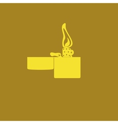 monochrome icon set Lighter fire vector image