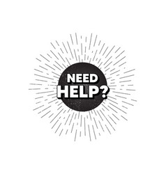 Need help symbol support service sign vector