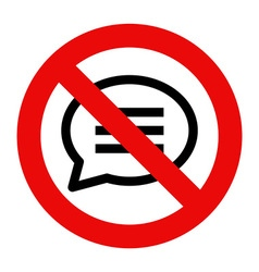 No talking sign vector
