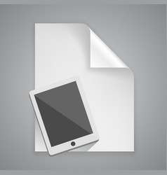 paper symbol tablet vector image