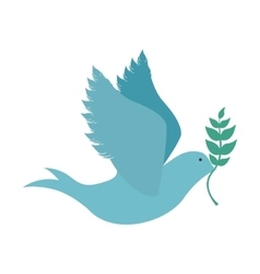 peace dove icon image vector image