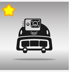 police helmet action camera black icon vector image