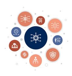 Project management infographic 10 steps bubble vector