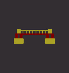 Rail way bridge icon for web mobile and vector