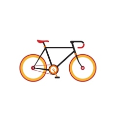 Retro bicycle on the white background vector