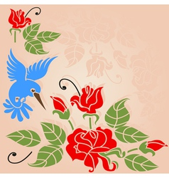 rose bush vector image
