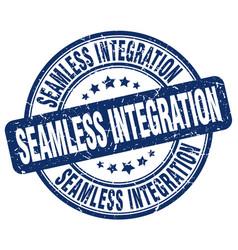 Seamless integration blue grunge stamp vector