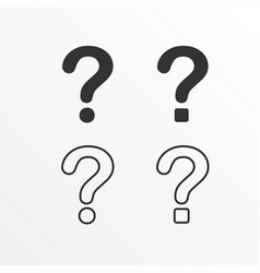 Set of question mark icon vector