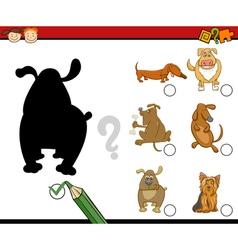 Shadows activity for preschoolers vector