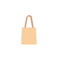 shopping reusable grocery bag in a flat style vector image