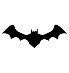 silhouette bat on white background vector image