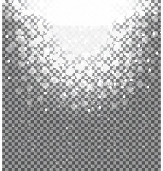 Snow on transparent background Abstract Christmas vector