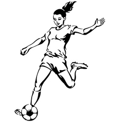 Soccer Football Female Player vector