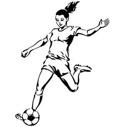 Soccer football female player vector