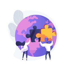 social participation abstract concept vector image