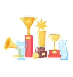 souvenir prize collection vector image