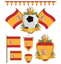 Spain flags vector