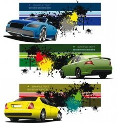 Sportscar banner vector