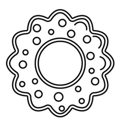 star cake icon outline style vector image