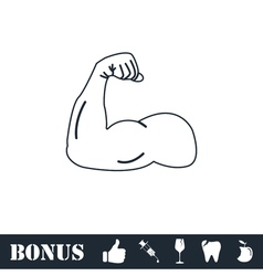 Strong icon flat vector
