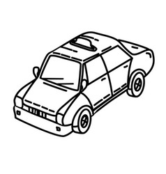 taxi icon doodle hand drawn or outline icon style vector image