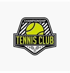 Tennis club badge logo-6 vector