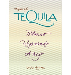 Tequila vector image vector image