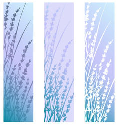 Vertical banners look like bookmarks or postcards vector