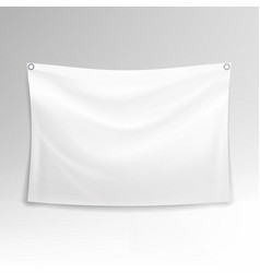 White banner realistic horizontal vector