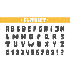 english alphabet drawn by hand isolated on white vector image