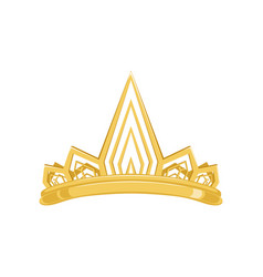 golden ancient crown for king or monarch queen or vector image vector image