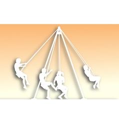 swings cutout vector image vector image