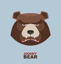 Angry bear head mascot Bear head logo for Hockey vector image