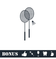 Badminton icon flat vector image