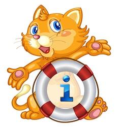 Cat Kiosk Sign vector image