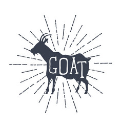 farm animals icons silhouette of goat vector image vector image