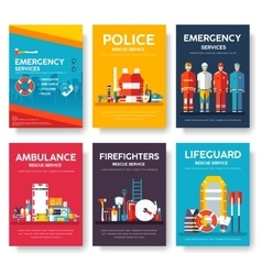 Firefighter rafting police medicine rescue vector image